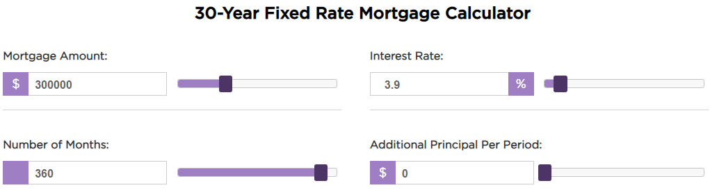 30-Year Fixed Mortgage 3.9% Interest